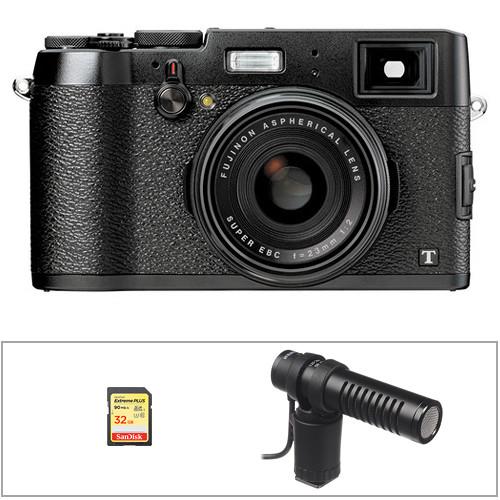 Fujifilm X100T Digital Camera Basic Kit (Black)