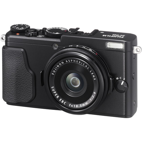 Fujifilm X70 Digital Camera with Free Accessory Kit (Black)