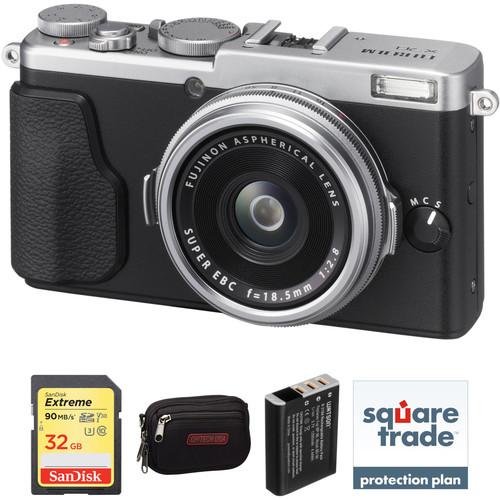 Fujifilm X70 Digital Camera Deluxe Kit (Silver)