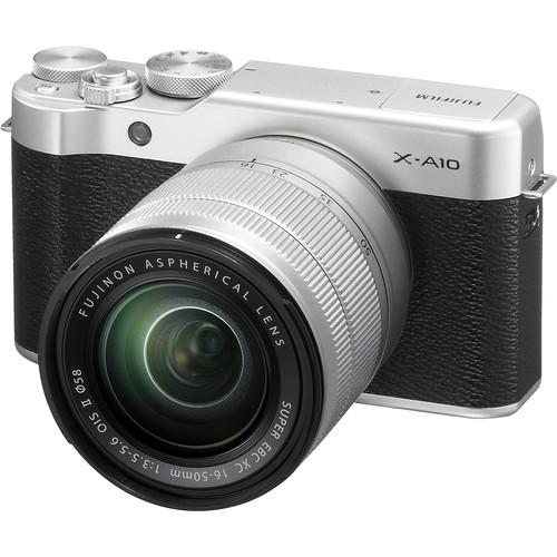 Fujifilm X-A10 Mirrorless Digital Camera with 16-50mm Lens Basic Kit