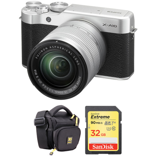 Fujifilm X-A10 Mirrorless Digital Camera with 16-50mm Lens Basic Kit