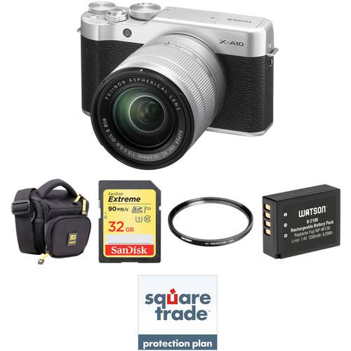 Fujifilm X-A10 Mirrorless Digital Camera with 16-50mm Lens Deluxe Kit