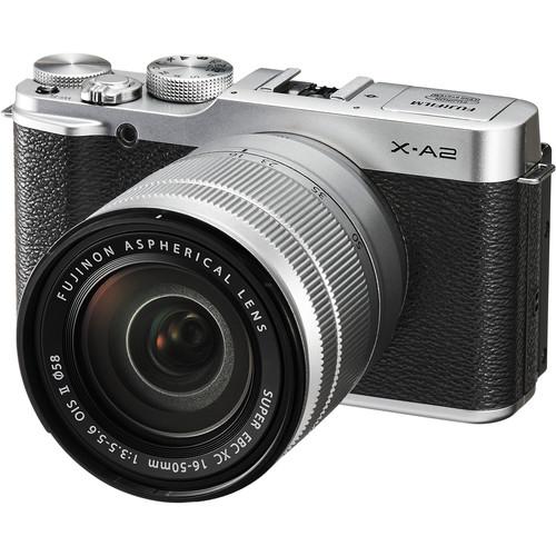 Fujifilm X-A2 Mirrorless Digital Camera with 16-50mm Lens Basic Kit (Silver)