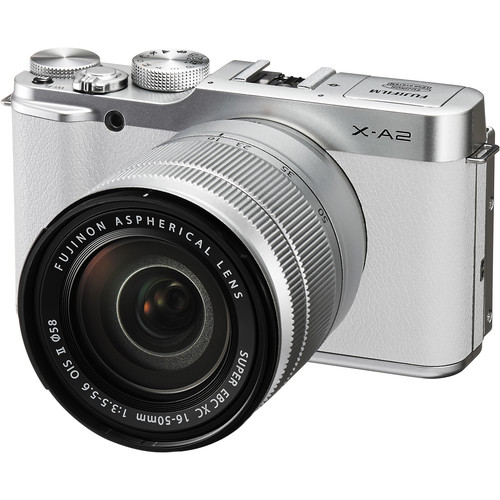 Fujifilm X-A2 Mirrorless Digital Camera with 16-50mm Lens Basic Kit (White)