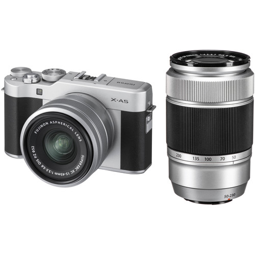 FUJIFILM X-A5 Mirrorless Camera with 15-45mm and 50-230mm Lens Kit (Black)