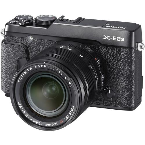Fujifilm X-E2S Mirrorless Digital Camera with 18-55mm Lens Deluxe Kit (Black)