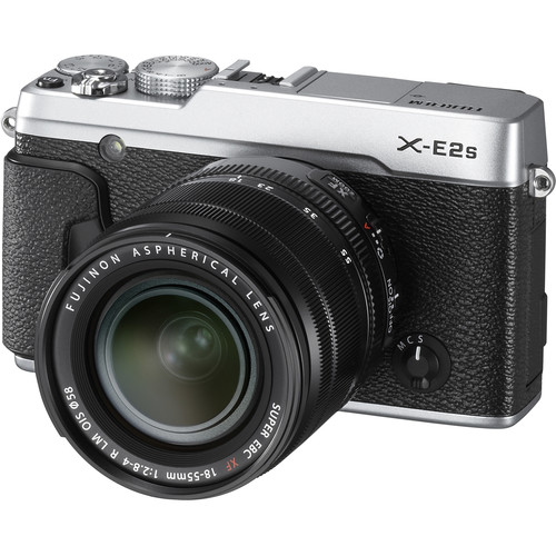 Fujifilm X-E2S Mirrorless Digital Camera with 18-55mm Lens Deluxe Kit (Silver)