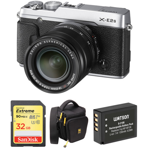 Fujifilm X-E2S Mirrorless Digital Camera with 18-55mm Lens Basic Kit (Silver)