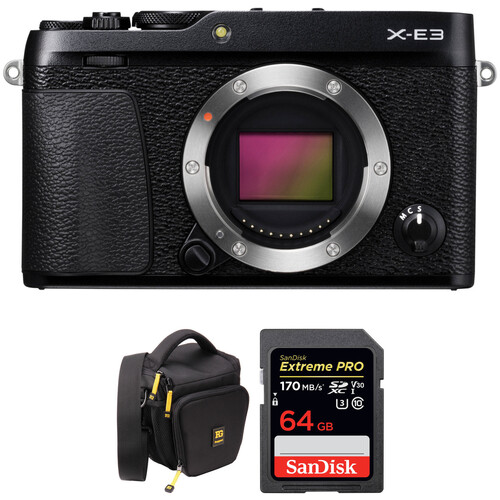 Fujifilm X-E3 Mirrorless Digital Camera with Accessories Kit (Body Only, Black)