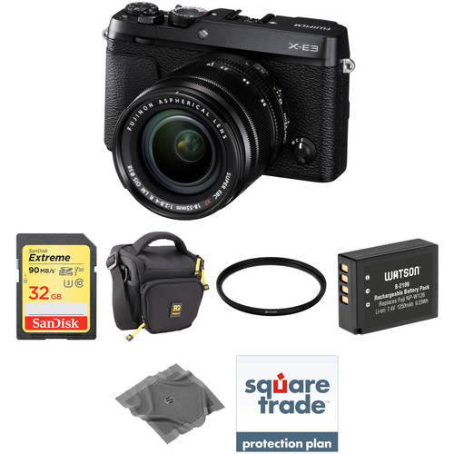 Fujifilm X-E3 Mirrorless Digital Camera with 18-55mm Lens Deluxe Kit (Black)