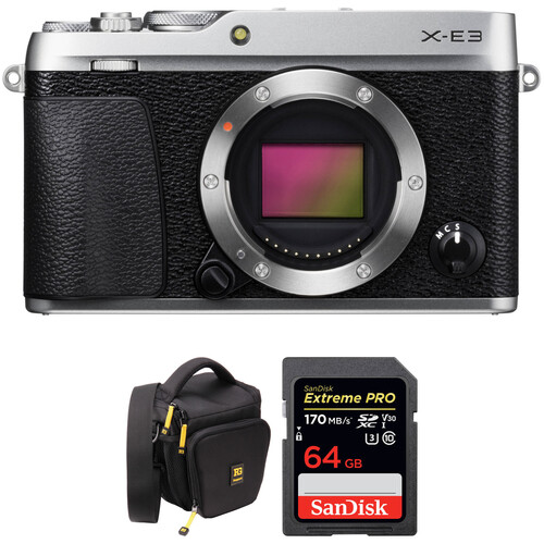 FUJIFILM X-E3 Mirrorless Digital Camera with Accessories Kit (Body Only, Silver)