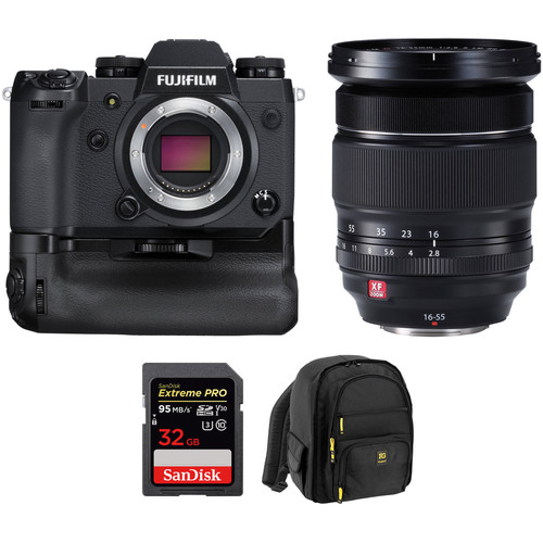 Fujifilm X-H1 Mirrorless Digital Camera with 16-55mm Lens and Memory Card Kit