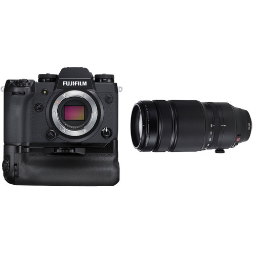 FUJIFILM X-H1 Mirrorless Digital Camera with 100-400mm Lens and Battery Grip Kit