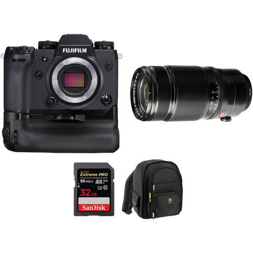 FUJIFILM X-H1 Mirrorless Digital Camera with 50-140mm Lens and Memory Card Kit