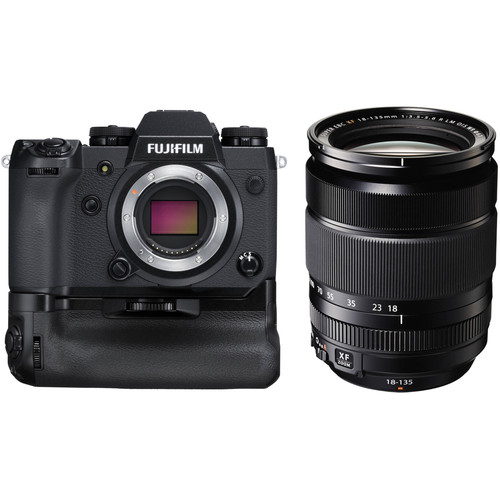 FUJIFILM X-H1 Mirrorless Digital Camera Body with 18-135mm Lens and Battery Grip Kit