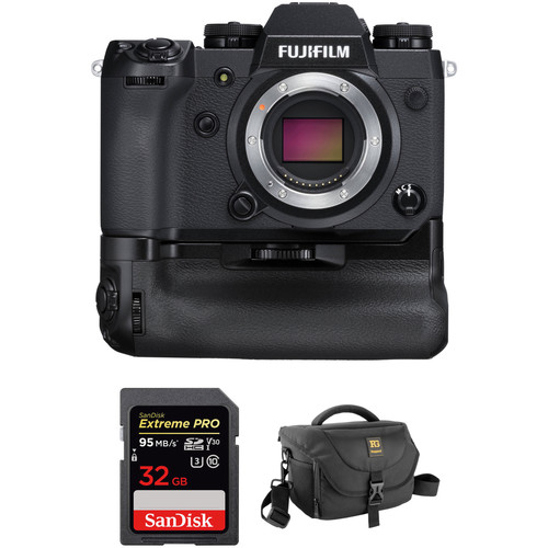 FUJIFILM X-H1 Mirrorless Digital Camera Body with Battery Grip and Accessory Kit