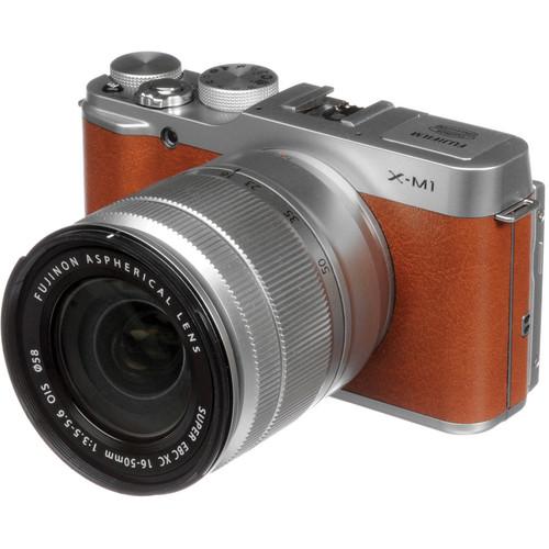 Fujifilm X-M1 Mirrorless Digital Camera with 16-50mm Lens (Brown)