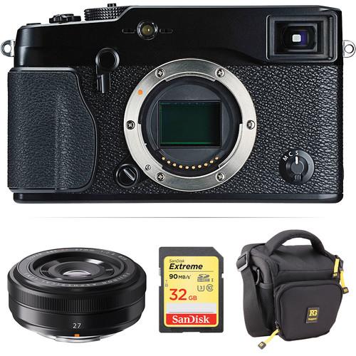 FUJIFILM X-Pro1 Mirrorless Digital Camera with 27mm Lens Kit (Black)
