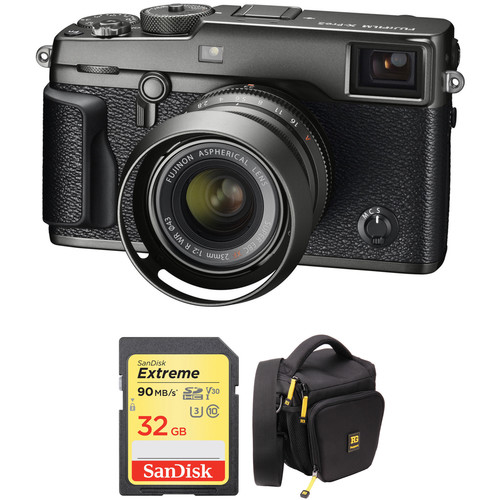 FUJIFILM X-Pro2 Mirrorless Digital Camera with 23mm Lens and Accessories Kit (Graphite)