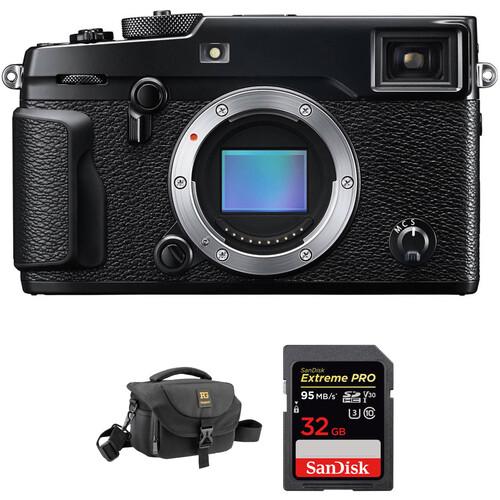 FUJIFILM X-Pro2 Mirrorless Digital Camera with Accessories Kit