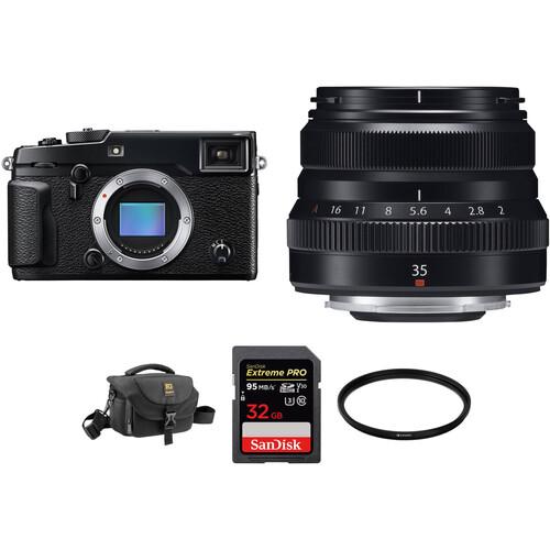 FUJIFILM X-Pro 2 Digital Camera with XF 35mm f/2 R WR Lens Accessories Kit