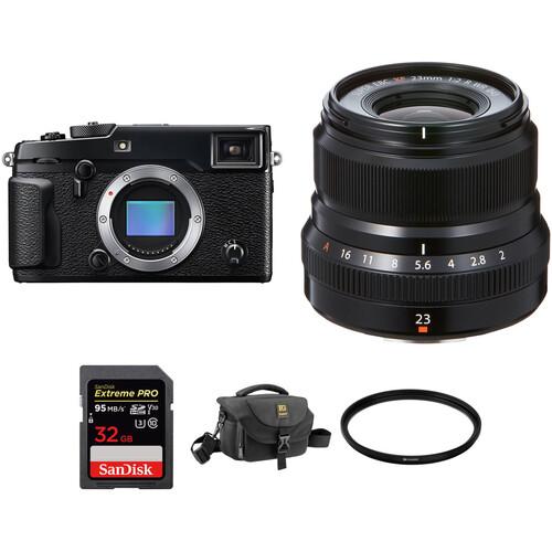 Fujifilm X-Pro 2 Digital Camera with XF 23mm f/2 R WR Lens Accessories Kit