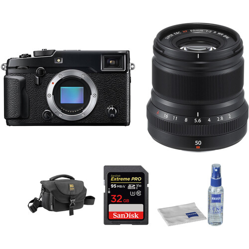 Fujifilm X-Pro 2 Digital Camera with XF 50mm f/2 R WR Lens and Accessories Kit