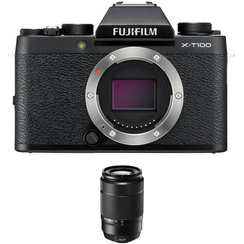 Fujifilm X-T100 Camera with XC 50-230mm f/4.5-6.7 OIS II Lens Kit (Black)