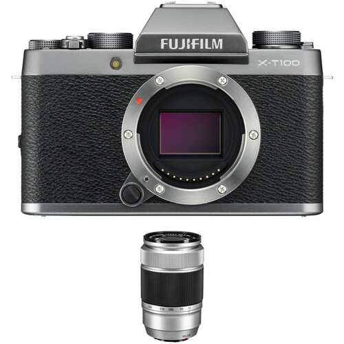 Fujifilm X-T100 Camera with XC 50-230mm f/4.5-6.7 OIS II Lens Kit (Silver)