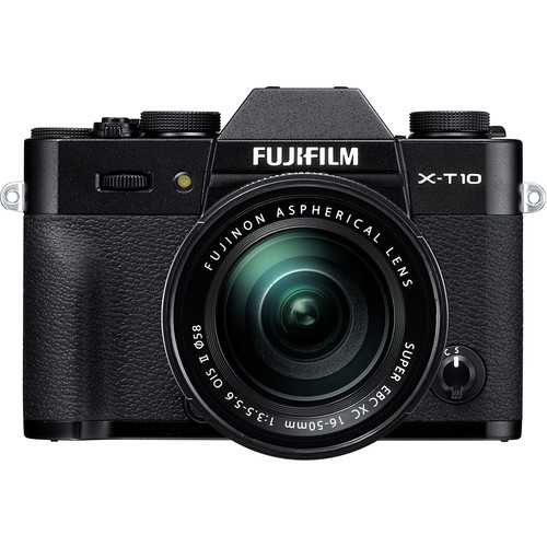 Fujifilm X-T10 Mirrorless Digital Camera with 16-50mm and 35mm Lenses Kit (Black)