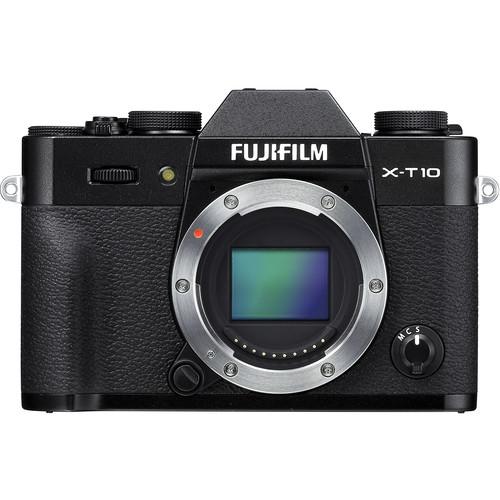 Fujifilm X-T10 Mirrorless Digital Camera Body Deluxe Kit (Black)