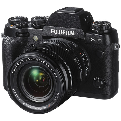 Fujifilm X-T1 Mirrorless Digital Camera with 18-55mm and 35mm Lenses Kit (Black)