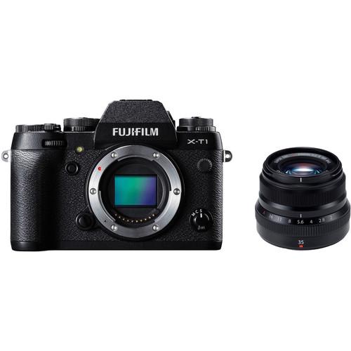 Fujifilm X-T1 Mirrorless Digital Camera with 35mm f/2 Lens Kit (Black)