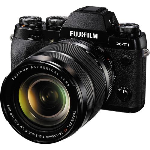 Fujifilm X-T1 Mirrorless Digital Camera with 18-135mm Lens Deluxe Kit (Black)