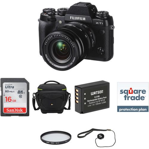 Fujifilm X-T1 Mirrorless Digital Camera with 18-55mm Lens Deluxe Kit