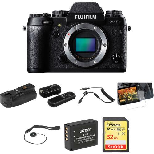 FUJIFILM X-T1 Mirrorless Digital Camera Body Basic Kit (Black)