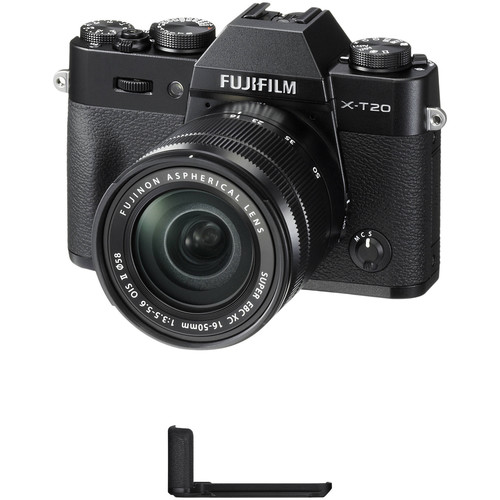 Fujifilm X-T20 Mirrorless Camera with XC 16-50mm f/3.5-5.6 OIS II Lens and Grip Kit (Black)