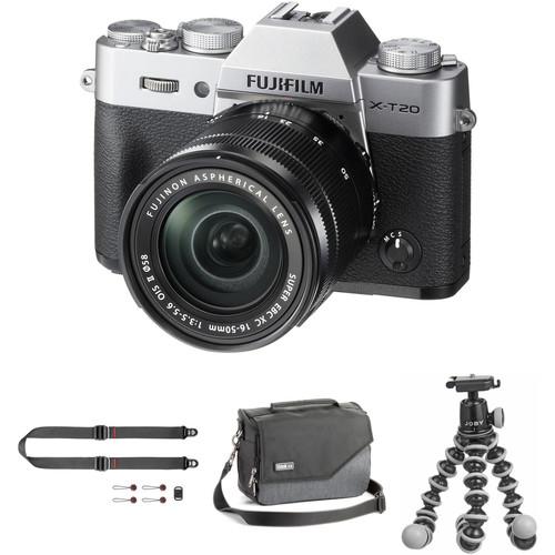 Fujifilm X-T20 Mirrorless Digital Camera with 16-50mm Lens Travel Photography Kit (Silver)
