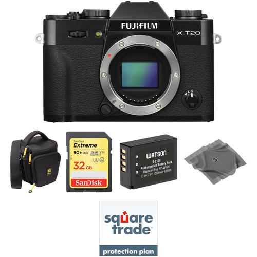 FUJIFILM X-T20 Mirrorless Digital Camera Body with Deluxe Kit (Black)