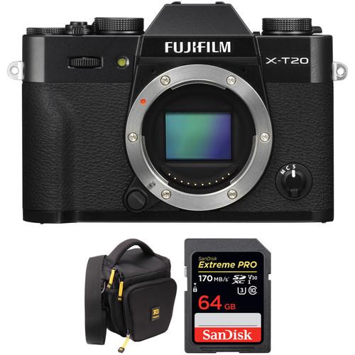 FUJIFILM X-T20 Mirrorless Digital Camera Body with Accessories Kit (Black)