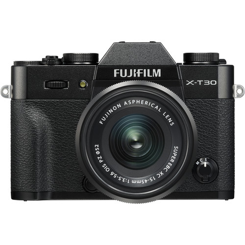 FUJIFILM X-T30 Mirrorless Digital Camera with 15-45mm Lens (Black)