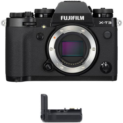 FUJIFILM X-T3 Mirrorless Digital Camera Body with Battery Grip Kit (Black)