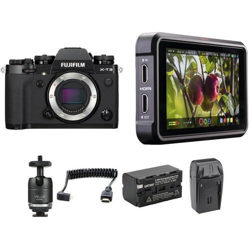 FUJIFILM X-T3 Mirrorless Digital Camera with Ninja V Kit (Black)