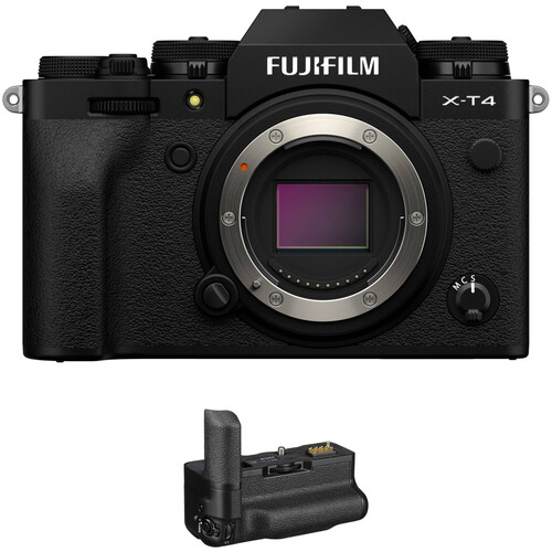 FUJIFILM X-T4 Mirrorless Digital Camera Body with Battery Grip Kit (Black)