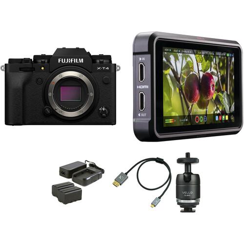FUJIFILM X-T4 Mirrorless Digital Camera Cine Kit (Black)