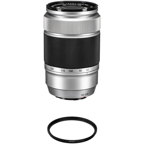 FUJIFILM XC 50-230mm f/4.5-6.7 OIS II Lens with UV Filter Kit (Silver)