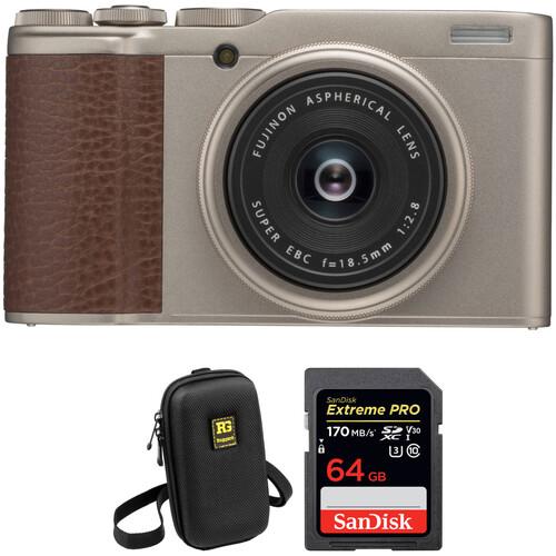 FUJIFILM XF10 Digital Camera Basic Kit (Gold)
