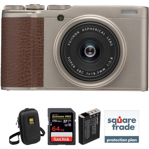 FUJIFILM XF10 Digital Camera Deluxe Kit (Gold)