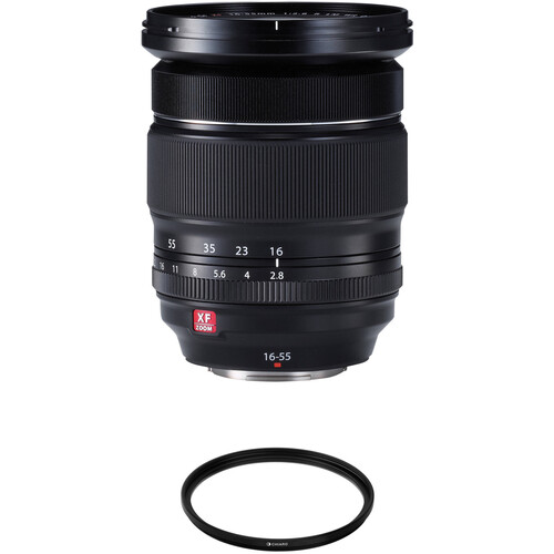 FUJIFILM XF 16-55mm f/2.8 R LM WR Lens with UV Filter Kit