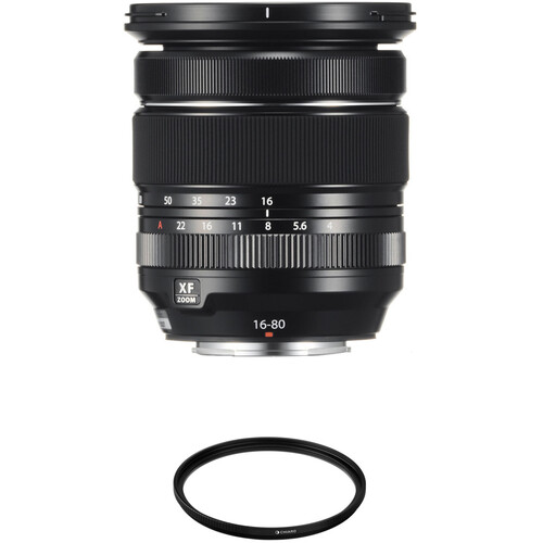 FUJIFILM XF 16-80mm f/4 R OIS WR Lens with UV Filter Kit